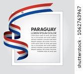 paraguay flag background | Shutterstock .eps vector #1062763967
