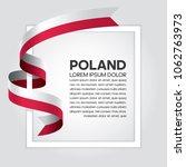 poland flag background | Shutterstock .eps vector #1062763973