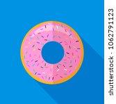 sweet glaze pink donut isolated ... | Shutterstock . vector #1062791123