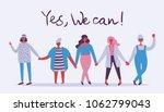 we can do it. feminine concept... | Shutterstock .eps vector #1062799043