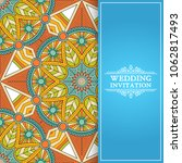 ethnic floral seamless pattern... | Shutterstock .eps vector #1062817493