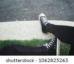 selfie of sneakers | Shutterstock . vector #1062825263