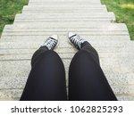 selfie of sneakers | Shutterstock . vector #1062825293