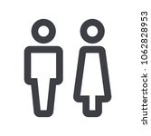 gender icon. man and woman icon ... | Shutterstock .eps vector #1062828953