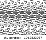 abstract geometric pattern with ... | Shutterstock . vector #1062833087