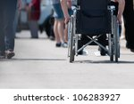 disabled  handicapped  person... | Shutterstock . vector #106283927