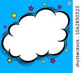 retro comic design cloud. flash ... | Shutterstock .eps vector #1062850523