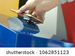 self check in with a barcode...   Shutterstock . vector #1062851123