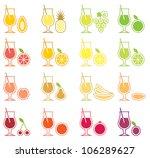 vector fruit juice icon set | Shutterstock .eps vector #106289627