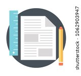 drafting document with pencil...   Shutterstock .eps vector #1062903947