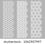 vector set of line borders with ... | Shutterstock .eps vector #1062907997