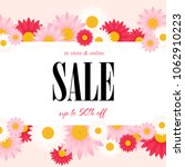spring sale background with... | Shutterstock .eps vector #1062910223