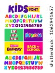 kids font in the cartoon style  ...