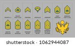 army enlisted rank insignia  ... | Shutterstock .eps vector #1062944087