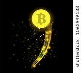 vector golden bitcoin isolated... | Shutterstock .eps vector #1062949133