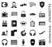 loud music icons set. simple... | Shutterstock . vector #1063000793