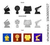 gold pistol  silver prize for... | Shutterstock .eps vector #1063005527
