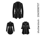 women clothing black icons in...   Shutterstock .eps vector #1063008707