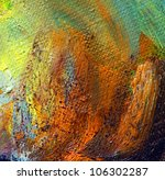 oil paint on a canvas,  abstract background - stock photo