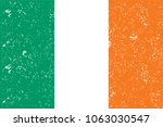 ireland flag. official colors... | Shutterstock .eps vector #1063030547
