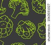 broccoli hand drawn vector... | Shutterstock .eps vector #1063031027