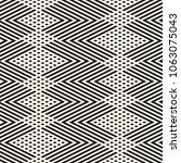 vector geometric lines pattern. ... | Shutterstock .eps vector #1063075043
