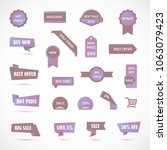 vector stickers  price tag ... | Shutterstock .eps vector #1063079423