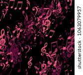 strokes of musical notes.... | Shutterstock .eps vector #1063079957