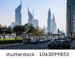 Small photo of Dubai, UAE. Circa March, 2018. Dubai growth as a business and touristic destination have adored the city with one of the finest urban developments. Sheikh Zayed rd. lined up by towers and skyscrapers.