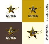 movies   entertainment logo and ... | Shutterstock .eps vector #1063104287
