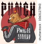 football fan. fighter with... | Shutterstock .eps vector #1063127843