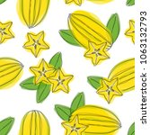 seamless pattern with ripe star ... | Shutterstock .eps vector #1063132793