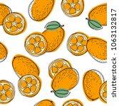 hand drawn seamless pattern... | Shutterstock .eps vector #1063132817