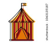 circus tent isolated icon | Shutterstock .eps vector #1063135187