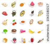 commodity icons set. isometric... | Shutterstock . vector #1063180217