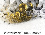 abstract chaotic glittering... | Shutterstock . vector #1063255097