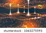 global network. blockchain.... | Shutterstock . vector #1063275593