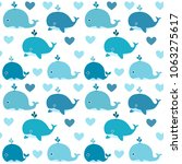 ocean vector seamless pattern... | Shutterstock .eps vector #1063275617