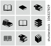 Book icons set. - stock vector