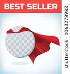 funny super hero flying with... | Shutterstock .eps vector #1063278983