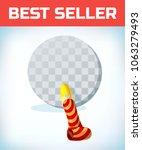 birthday pipe. cartoon vector... | Shutterstock .eps vector #1063279493