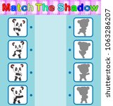 find the correct shadow of the... | Shutterstock . vector #1063286207
