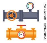 valve on pipe | Shutterstock .eps vector #1063294457