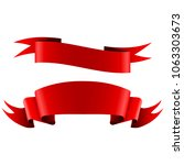 collection of red empty ribbon... | Shutterstock . vector #1063303673