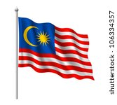 Flag of Malaysia, vector illustration