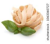 italian pasta fettuccine nest... | Shutterstock . vector #1063360727