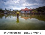 ujung water palace is a former...   Shutterstock . vector #1063379843