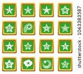Decorative Stars Icons Set...