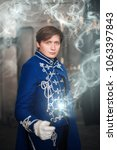 """Small photo of Chelyabinsk, Russia-March 14, 2018: Cosplay based on the novels of Joan Rowling, """"fantastic creatures and harry potter"""". Faculty of France Sharmbaton"""