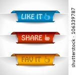 3 paper stickers tag for... | Shutterstock .eps vector #106339787